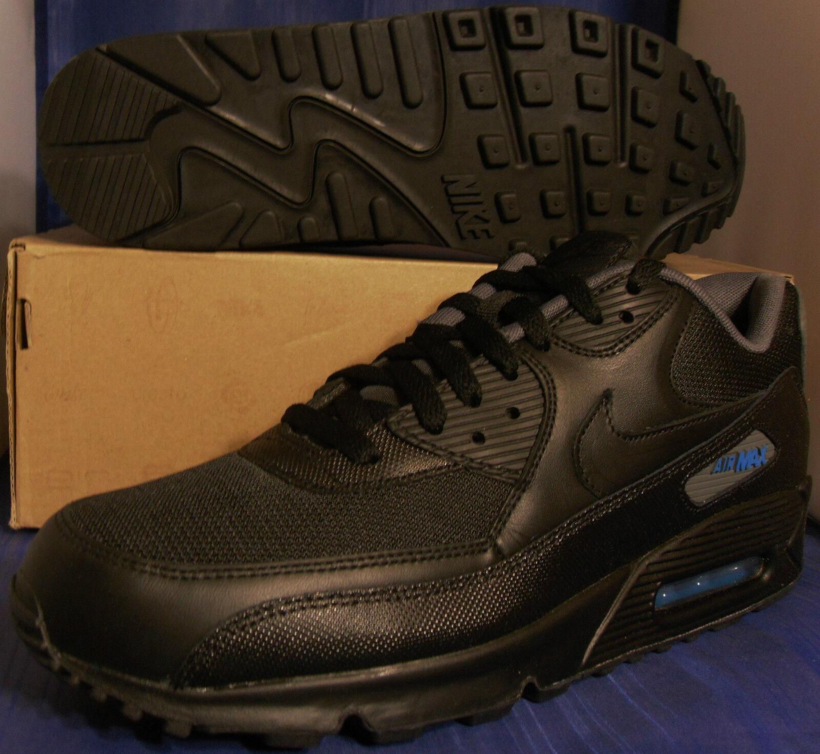 Nike Air Max 90 Black Photo bluee Dark Grey SZ 11.5 ( 325018-094 )
