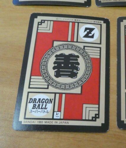 DRAGON BALL Z DBZ SUPER BATTLE PART 5 CARD REG CARTE 185 MADE IN JAPAN 1993 NM/>M