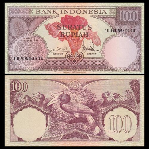 Indonesia 100 Rupiah, 1959, P-69, UNC