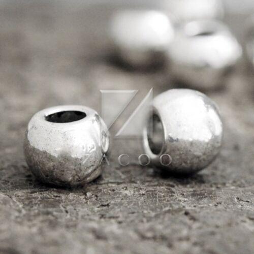 30pcs Tibetan Silver Loose Spacer Charm Metal Bead Jewelry Wholesale 7.5x10mm