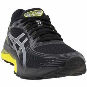 asics gelnimbus 21 casual running shoes  black  mens  ebay