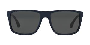 0ce6b8312678 NWT Emporio Armani Sunglasses EA 4033 523087 Top Blue Brown   Gray ...