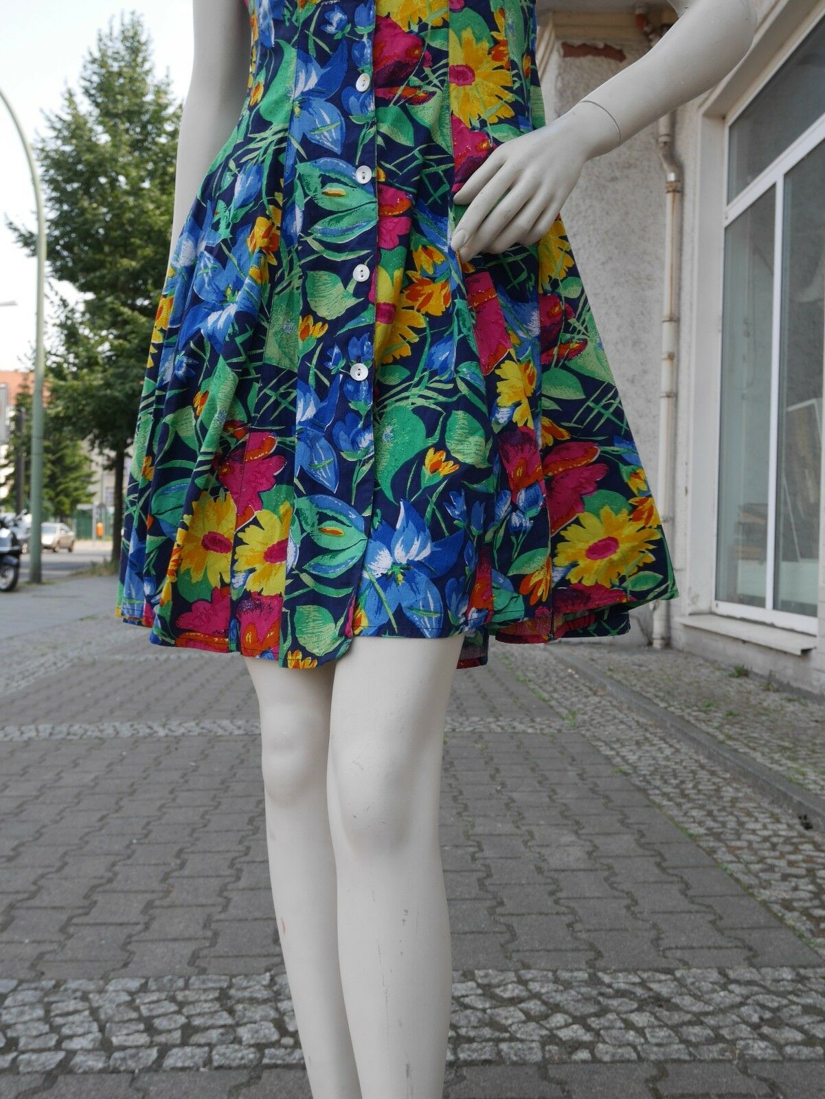 MISS JOY Kleid 36 floral Sommerkleid 90er TRUE TRUE TRUE VINTAGE floral sun dress 90s 23dd79
