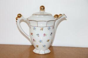 Tetera en Porcelana Decoración De Flores Vichy Ch - R - Bola Dorado