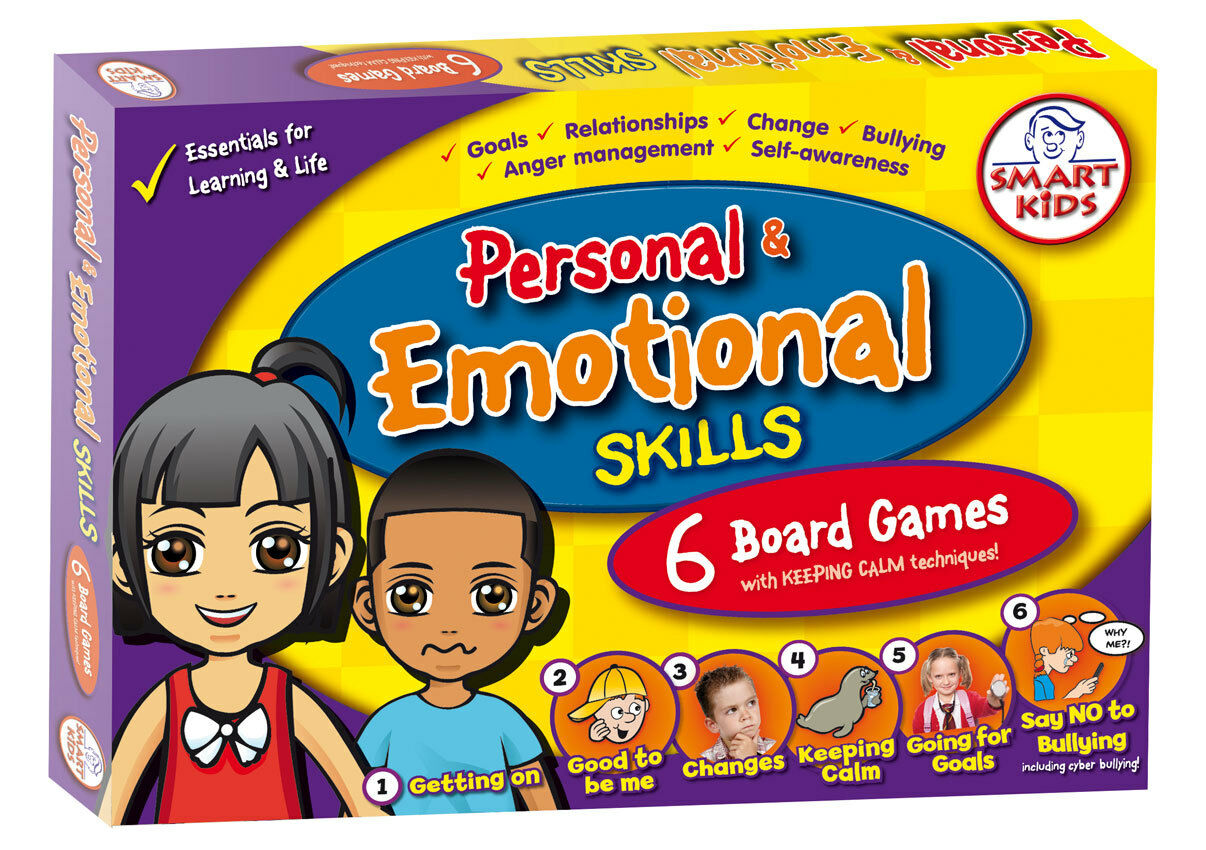 Smart Kids Personal & Emotional Skills Board Games - Essential Life Skills - NEW