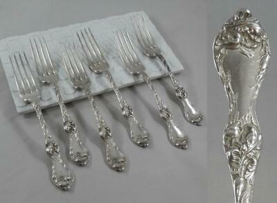 """Reed /& Barton Les Six Fleurs Sterling Silver Lunch Fork 7 1//8/"""""""
