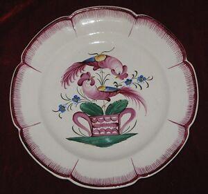 Ancienne-assiette-en-faience-les-islettes-aux-2-coqs-ceramique