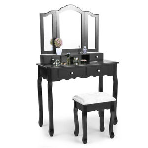 Image Is Loading Makeup Vanity Table Set Dressing Table Mirror 4