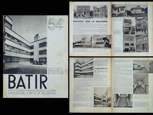 Batir N°54 1937 Wallonie, Liege, Hornu, La Louviere, Tamines, La Hestre