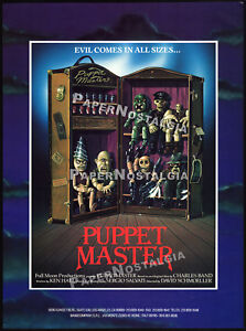 PUPPET-MASTER-Original-1988-Trade-print-AD-promo-poster-Puppetmaster-Blade