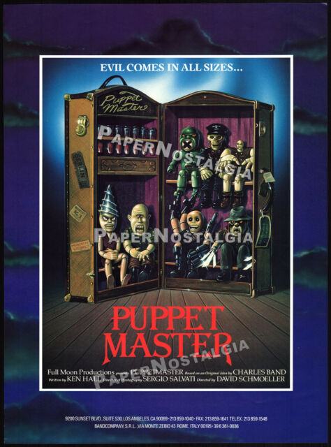 PUPPET MASTER__Original 1988 Trade print AD promo / poster__Puppetmaster - Blade
