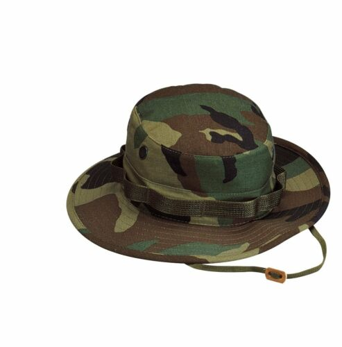 Rothco 5817 100/% Cotton Rip-Stop Boonie Hat Woodland Camo