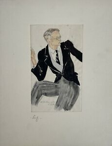 Charlotte-Zurek-1910-1971-Ritratto-di-un-Uomo-in-Frack-30er-Anni-Occhiali-Nichel