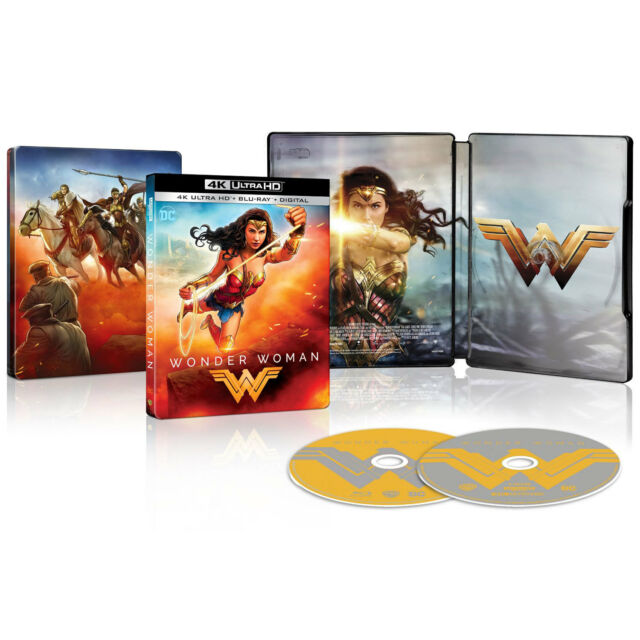 Wonder Woman 4k Ultra Hd Blu Ray Combo Limited Steelbook Edition