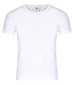 10-Stk-T-Shirt-weis-Fruit-of-the-Loom-Heavy-T-Gr-S