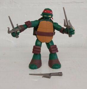 Teenage-Mutant-Ninja-Turtles-Raphael-Actionfigur-Battle-Shell-TMNT-komplett