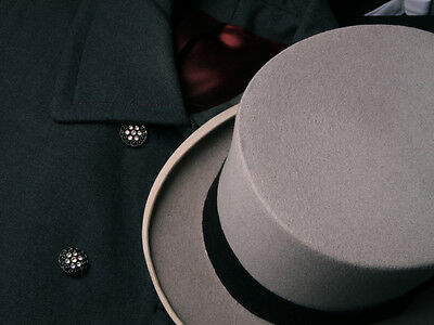 Top Hat from Lock & Co. Hatters, London (Rare Gray Felt) Pristine Condition