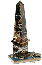 """17"""" Egyptian Masonic Obelisk Sculpture Made of Solid Marble"""