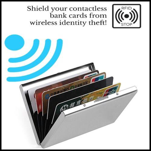 Anti RFID Blocking SCANNING Business Credit Card Hard Metal Wallet Case Holder