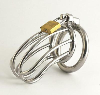 Stainless Steel Male Chastity Device Belt Chastity Cage Fetish Lock Profit Small Other Sexual Wellness
