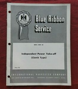 1960 INTERNATIONAL HARVESTER FARMALL TRACTOR INDEPENDENT PTO SERVICE MANUAL NICE