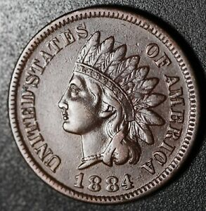 1884-INDIAN-HEAD-CENT-With-LIBERTY-amp-DIAMONDS-XF-EF