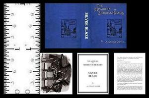 1:12 SCALE MINIATURE BOOK SHERLOCK HOLMES SILVER BLAZE ILLUSTRATED