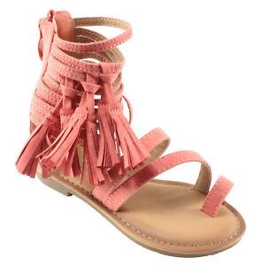 New Women Breckelles Pensee-32 Suede Peep Toe Block Heel Single Sole Sandal Size
