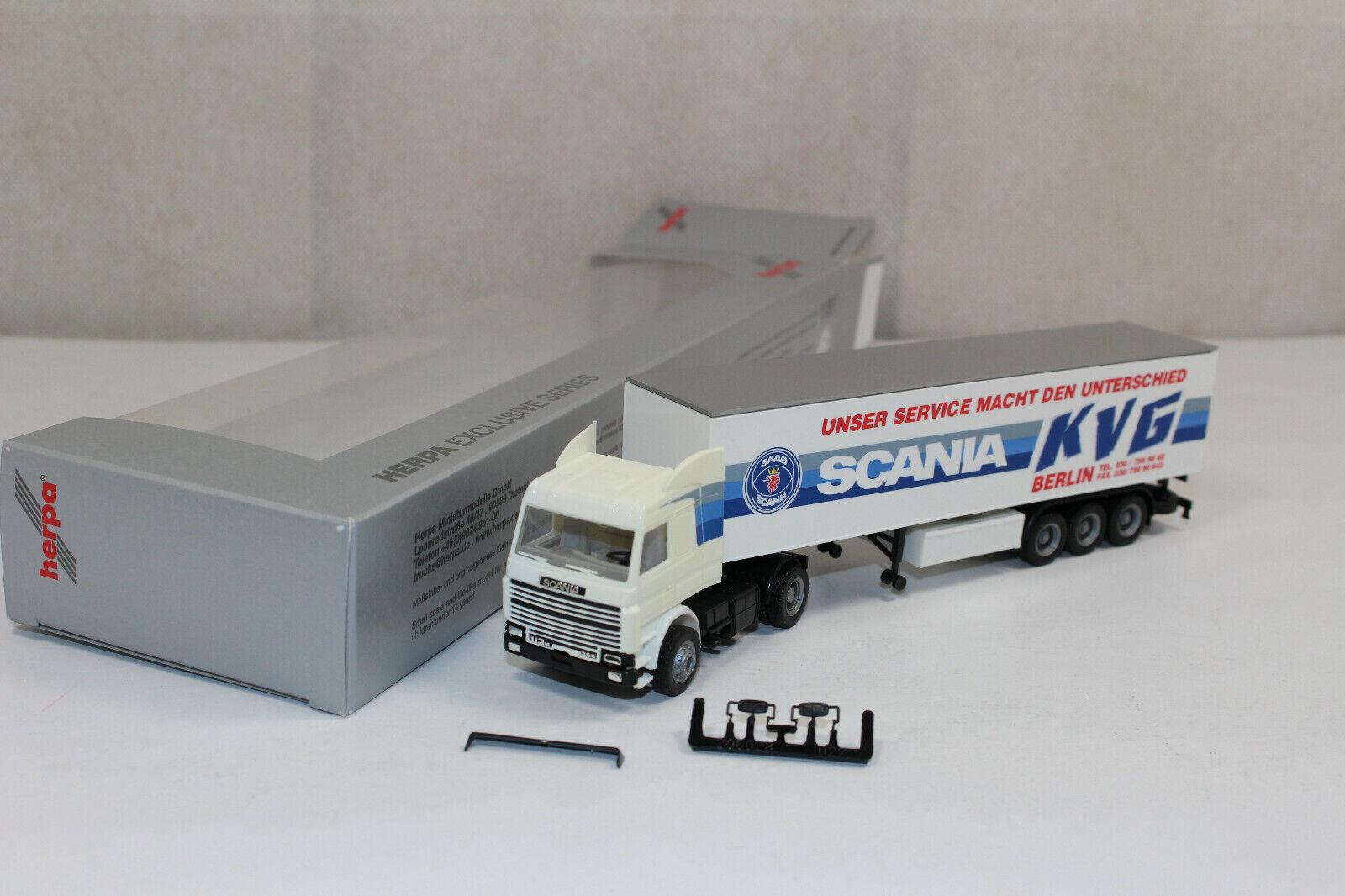 Ht633, RAR Herpa Scania 113M Topline Sattelzug Scania Berlin KVG Werbemodell So.