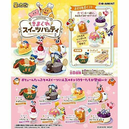 RE-MENT Kirby Chef Kawasaki Sweets  Party 1 scatola 8 cifras 204338  vendita all'ingrosso