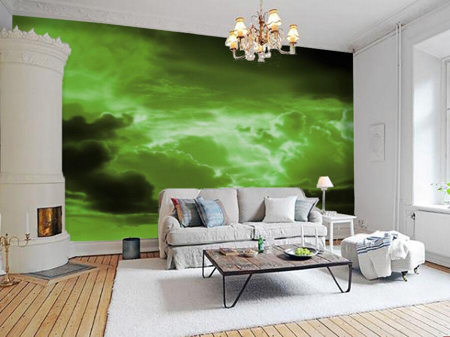 3D Grün Clouds Sky 73 Wall Paper Murals Wall Print Wall Wallpaper Mural AU Kyra