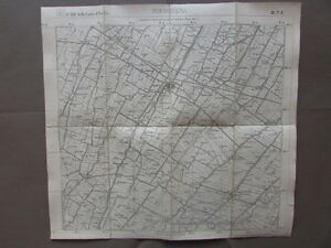 Carta-Italia-IGM-Medicina-Villa-Fontana-Castel-Guelfo-Geografia-Cartiglio-1911