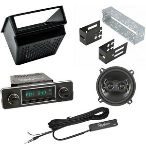 Complete Classic Car Radio Package Speaker Radio Hidden Aerial