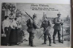 AK-Deutschland-Grusskarte-Gloria-Viktoria-Feldpost-1916-gebraucht-PG402
