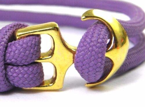 Ancre Bracelet-Paracord Bracelet-Bracelet de surfeur-Réglable-couleurs d/'accentuation-Handmade
