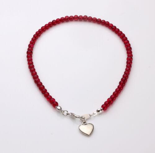Rojo Tobillera con Corazón Colgante de cristal del crujido