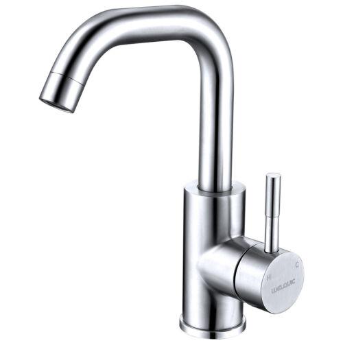 Sprayer Küchenarmatur Wasserhahn 360° Waschtisch Badezimmer Edelstahl 7-Shaped