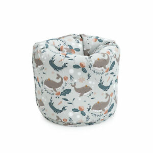 Children S Bean Bag Undersea Grey Girls Boys Kids Bedroom Furniture Beanbag Seat Ebay