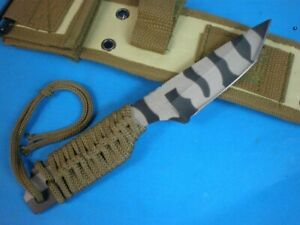 TOP UTILITY SHARP FULL TANG OUTDOOR CAMING JUNGLE SURVIVAL HUNTING BOWIE KNIFE
