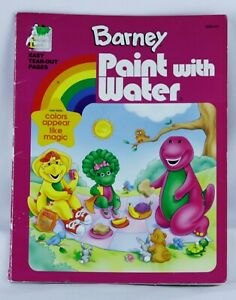 Golden Books Barney Friends Paint With Water Coloring Book Unused Non Toxic 33500082542 Ebay