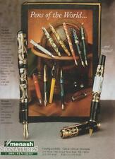 Fountain Pens of the World Menash Signatures New York Vintage Ad 1995 Rare