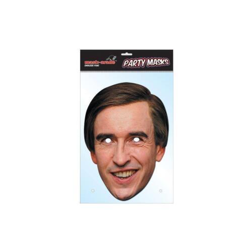 Alan Partridge Face Party Mask Card A4 Fancy Dress TV Film Steve Coogan Men