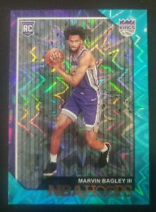 2018-19 Panini Hoops Marvin Bagley III TEAL EXPLOSION Rookie Card RC Kings