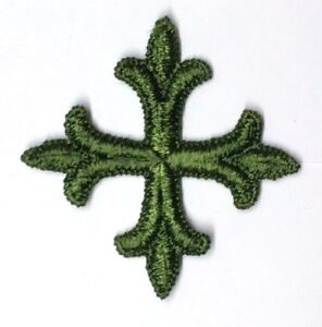 Frances-Cruz-para-Vestment-Altar-Estola-Bordado-2-034-para-Coser-Green-G-12-PC