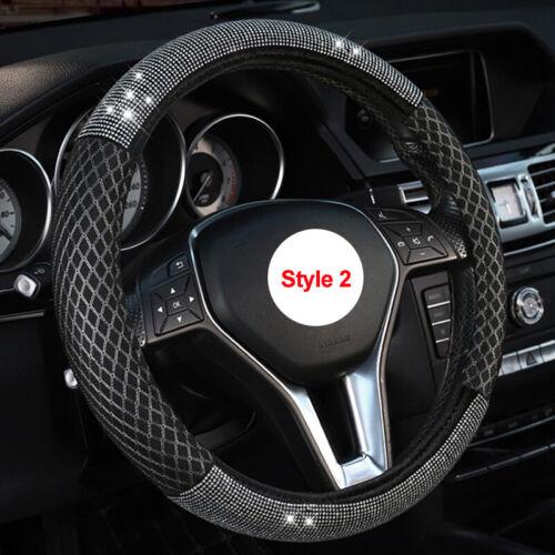 Universal Car Steering Wheel Cover Wrap Rhinestones For Woman Girl Lovely Cute