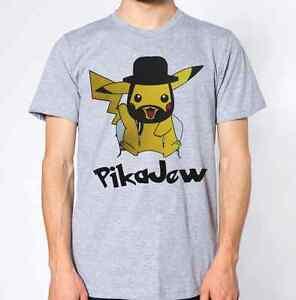 6585d92d9e Pikajew T-Shirt Jewish Top Jew Religion Pika Cartoon Funny | eBay