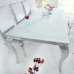 Das Bild Wird Geladen Esstisch MODERN BAROCK 200cm Edelstahl Tisch  Mit Tischplatte