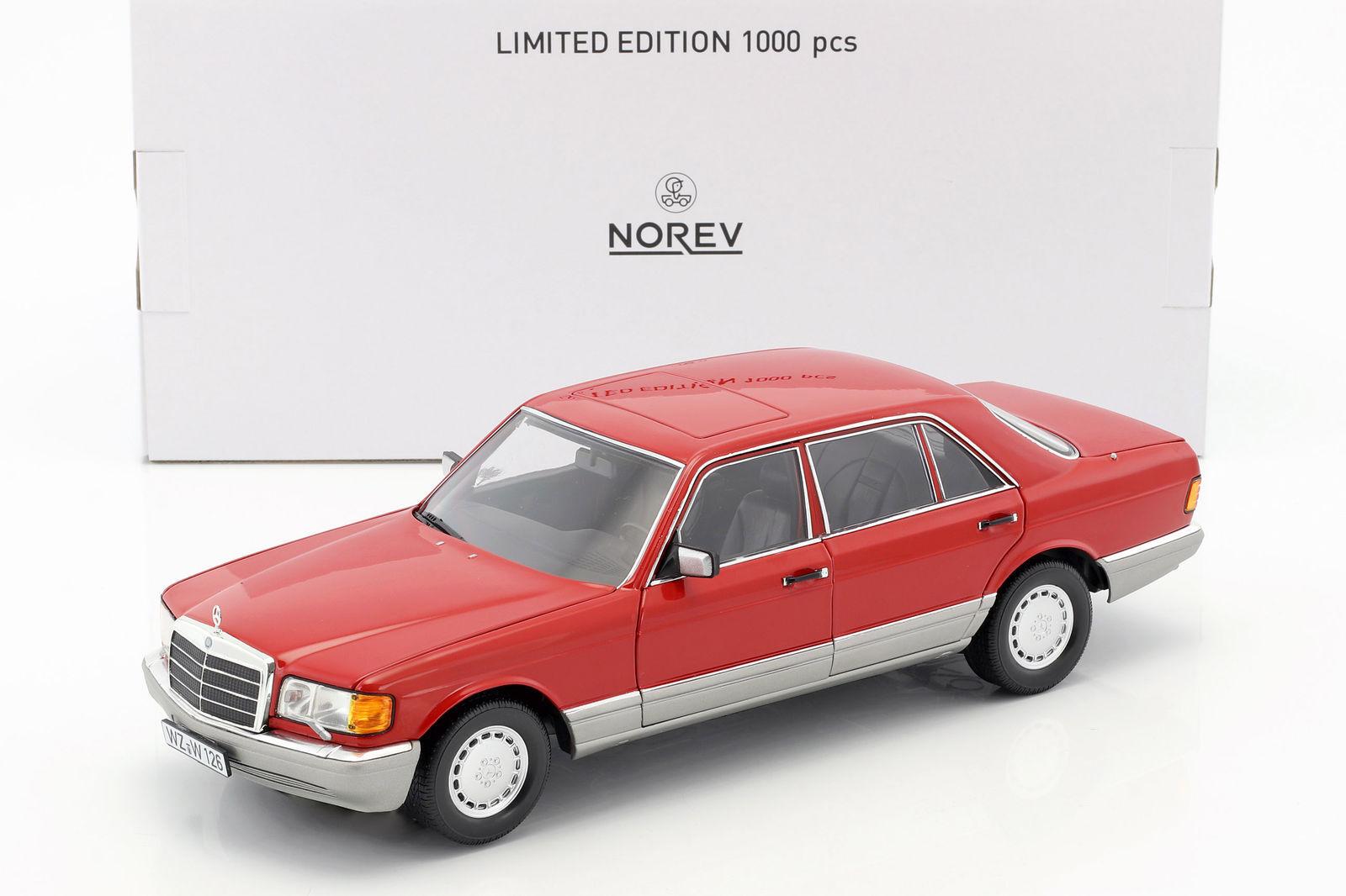 Mercedes - benz 560 sel norev 1991 w126 rote 18  neuer posten
