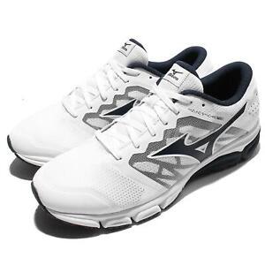 Mizuno-Synchro-MD-2-II-White-Black-Men-Running-Shoes-Sneakers-J1GE17-1818
