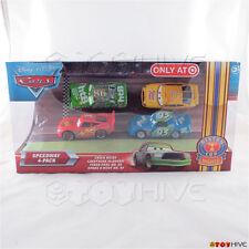 Disney Pixar Cars Speedway 4-Pack Chick Hicks McQueen Fiber Fuel Spare O Mint